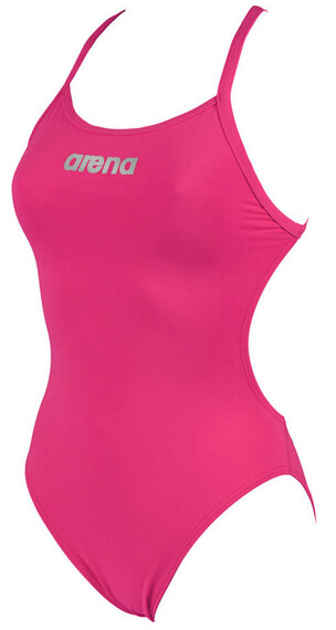 arena Mast High Swimsuit Women fresia rose/metallic silver